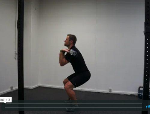 Front squat med lodret pres