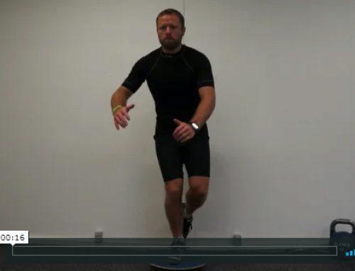 Vippebræt – et bens squat
